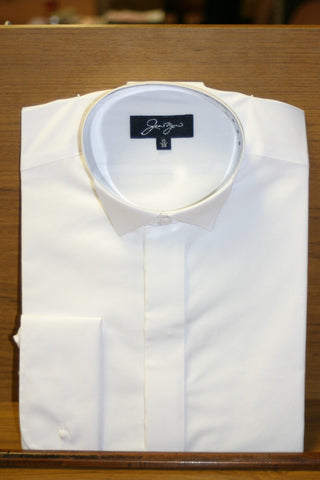 White Wing Collar Dress Shirt