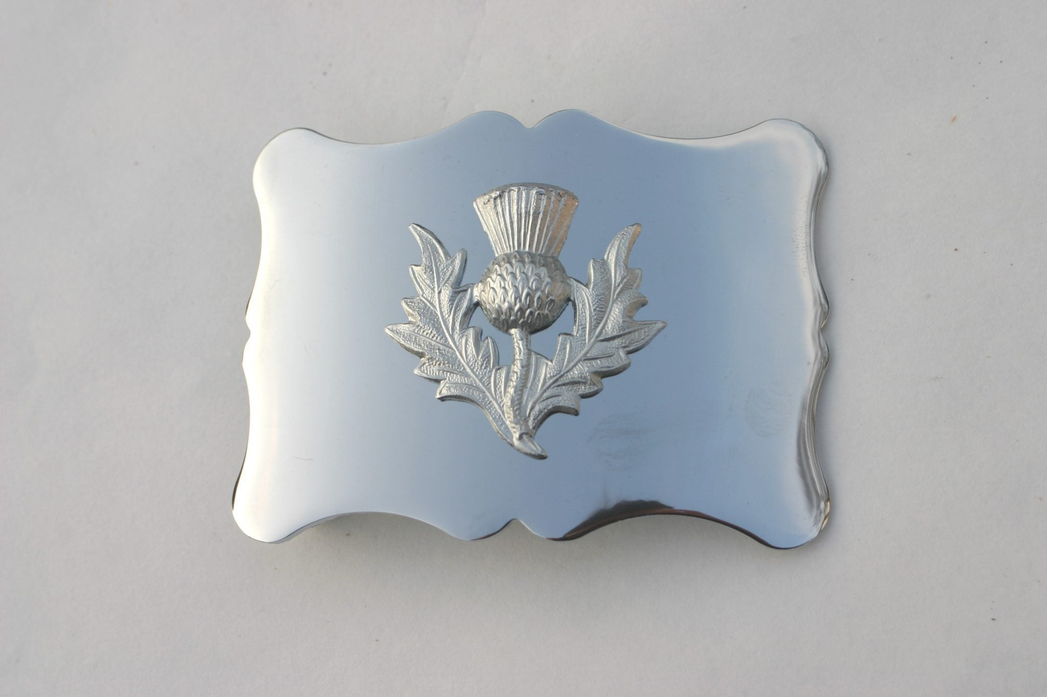 Plain Thistle Buckle - Anderson Kilts