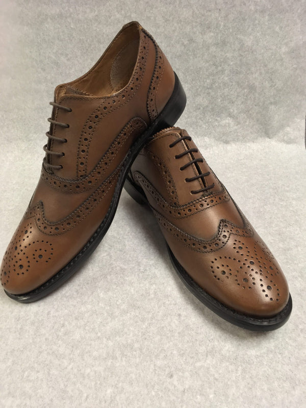 Brown Leather Day Brogue - Anderson Kilts