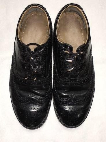 Ex-hire black ghillie brogues