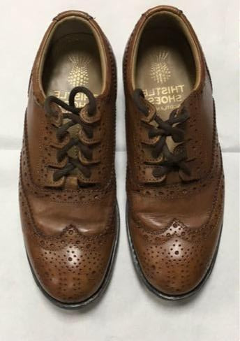 Ex-hire tan ghillie brogues