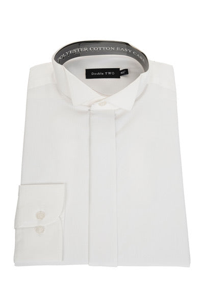 Mens White Wing Collar Dress Shirt