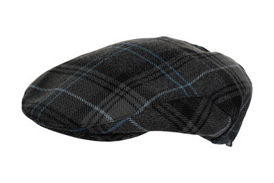 Highland Granite Blue tartan cap