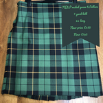New Muted Green Wallace kilt 44 Long