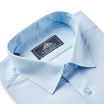 Mens Powder Blue Standard Collar Shirt