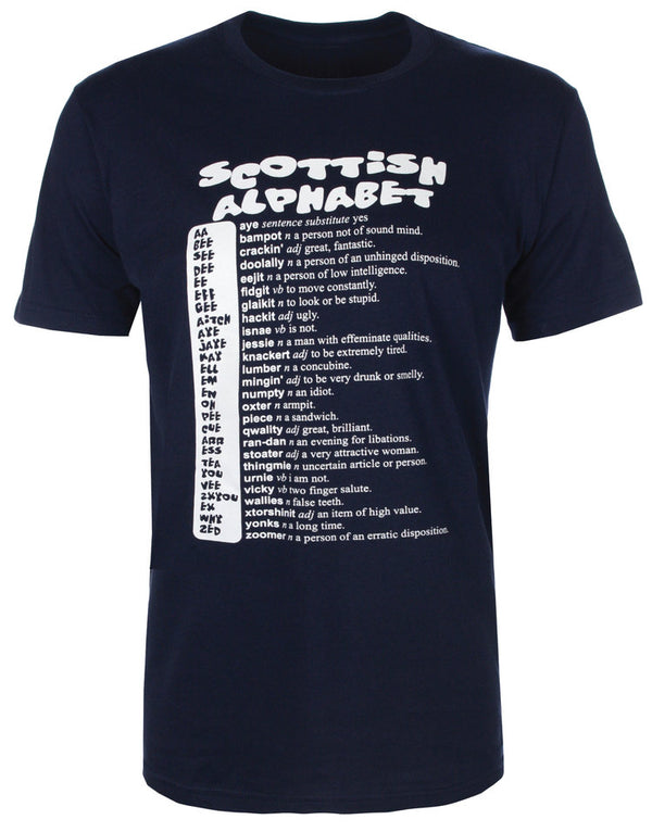 Scottish Alphabet T-Shirt - Anderson Kilts