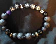 "Load image into Gallery viewer, ""MELANIN"" Obsidian beaded Bracelet"
