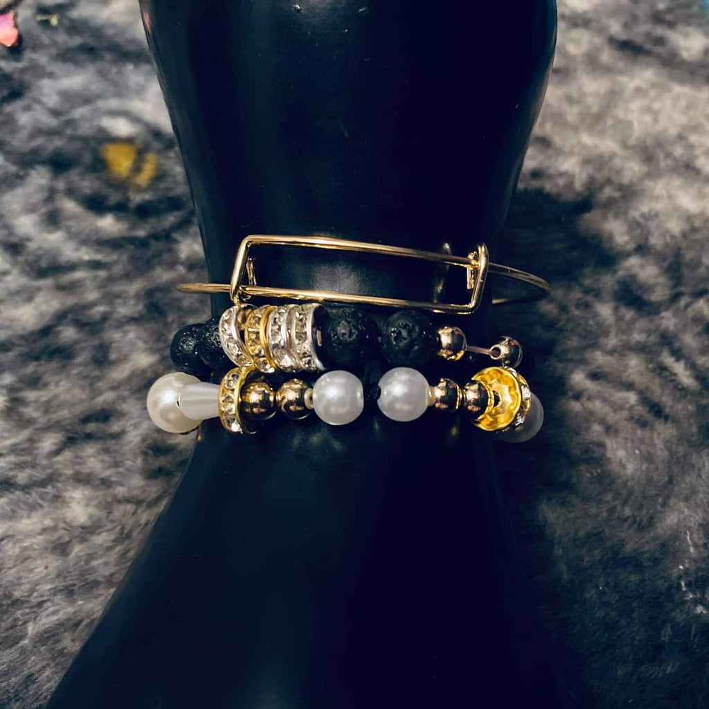 """Do it With Class"" Beaded and Golf Adjustable Bracelet"