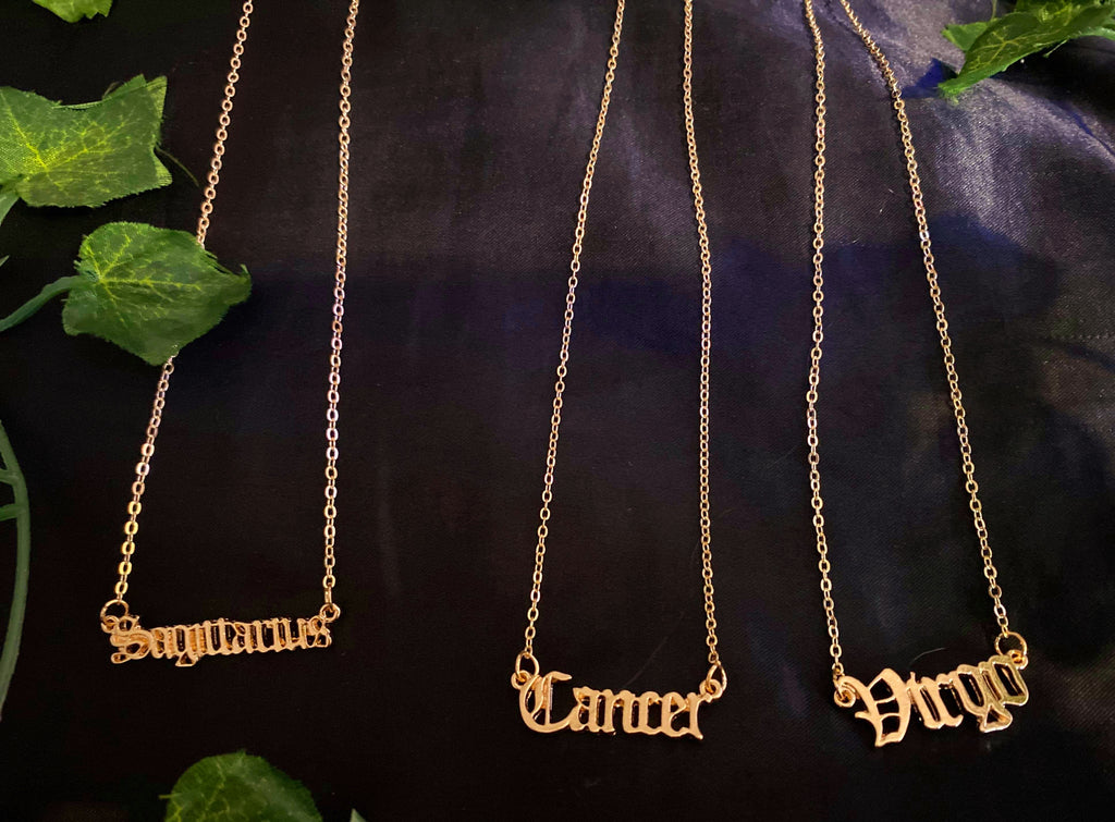 """ZODIAC SQUAD"" ASTROLOGY NECKLACES"