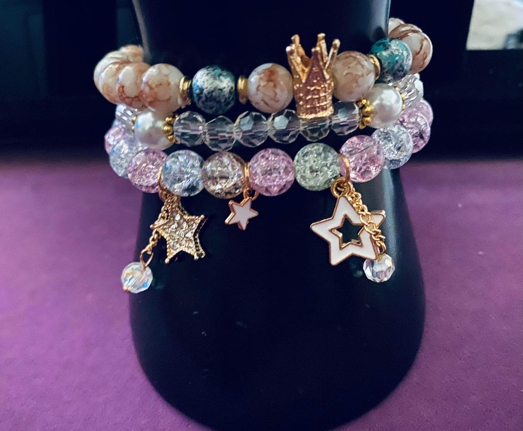 'Sky Royalty' beaded Bracelet