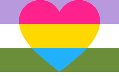 My Gender Pride Flags: Genderqueer Pansexual Pride Flag