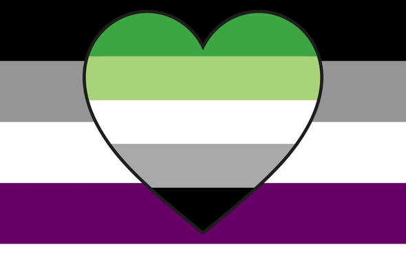 Asexual Aromantic (Ace-Aro) Pride Flag