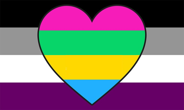 Asexual Poly-Panromantic Pride Flag