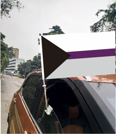 Demisexual Pride Car Flag