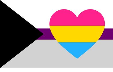 Demisexual Panromantic Pride Flag