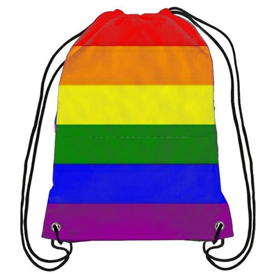 Gay Pride Rainbow Drawstring Backpack