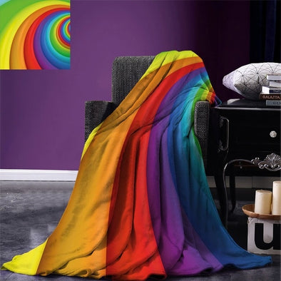 Pride Rainbow Throw Blanket