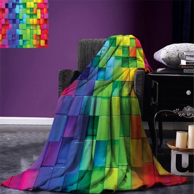 Abstract Pride Rainbow Throw Blanket
