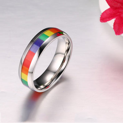 Personalized Rainbow LGBT Rings