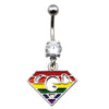 1pc Rainbow Gay and Lesbian Pride Navel Ring