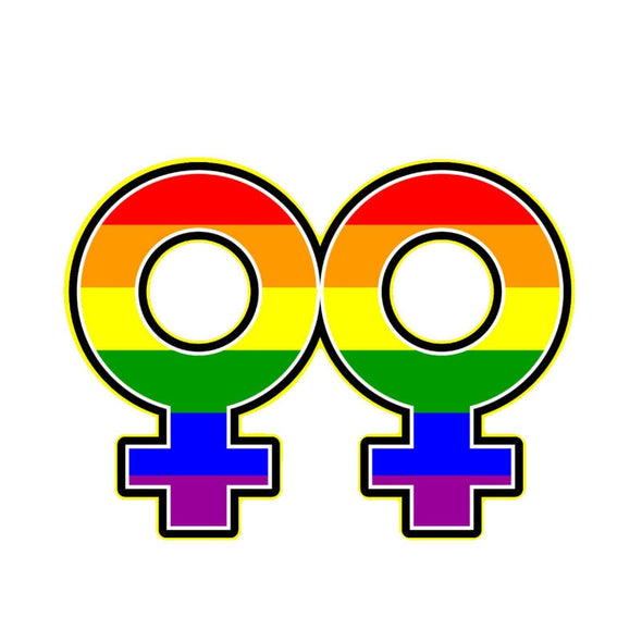 Pride Rainbow Female Gender Symbol Car Sticker