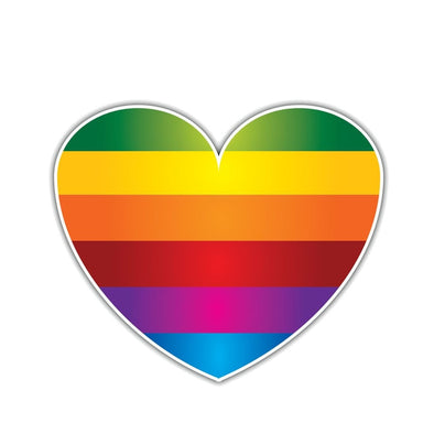 Pride Rainbow Heart Car Sticker