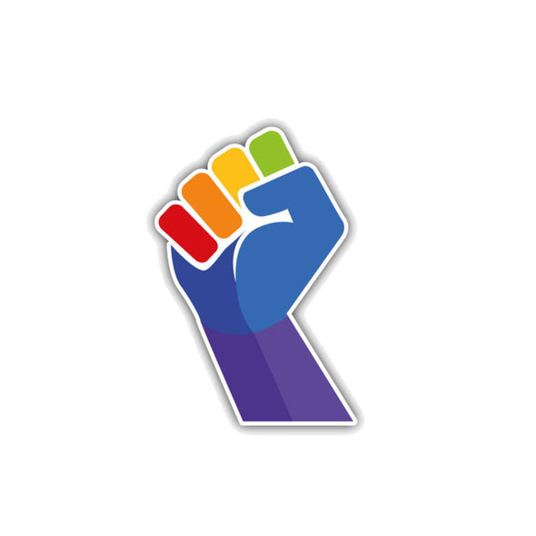 Pride Rainbow Power Fist Car Sticker