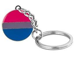 Bisexual Pride Key Chain