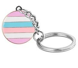 Bigender Pride Key Chain