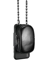 Load image into Gallery viewer, AfterDark iPhone Case with removable Carry Strap and Pouch - Black / White / Red