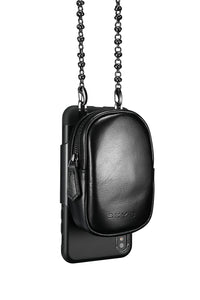 AfterDark iPhone Case with removable Carry Strap and Pouch - Black / White / Red