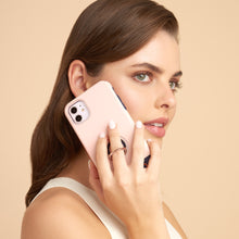 Load image into Gallery viewer, Regal iPhone Case with removable Carry Strap and Pouch - Navy / White / Pink