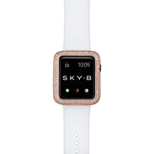 Load image into Gallery viewer, Top View Rose Gold Double Halo Apple Watch Case