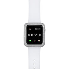 Load image into Gallery viewer, Top View Silver Double Halo Apple Watch Case