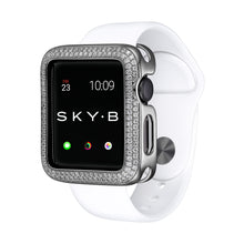 Load image into Gallery viewer, Silver Double Halo Apple Watch Case jewelry for Women