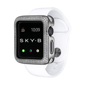 Silver Double Halo Apple Watch Case jewelry for Women