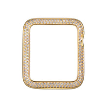 Load image into Gallery viewer, Face view Gold Double Halo Apple Watch Case jewelry
