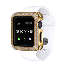 Load image into Gallery viewer, Gold Double Halo Apple Watch Case jewelry for Women