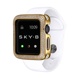 Gold Double Halo Apple Watch Case jewelry for Women