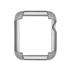 Pavé Corners Apple Watch® Case - Silver