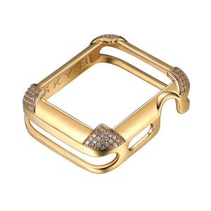 Pavé Corners Apple Watch® Case - Gold