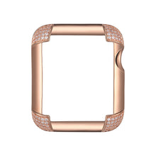 Load image into Gallery viewer, Pavé Corners Apple Watch® Case - Rose Gold