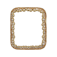 Load image into Gallery viewer, Face view Gold Champagne Bubbles Apple Watch Case jewelry