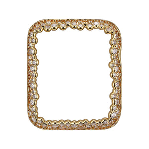 Face view Gold Champagne Bubbles Apple Watch Case jewelry