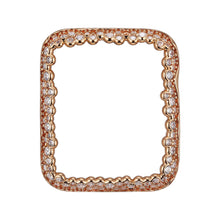 Load image into Gallery viewer, Face view Rose Gold Champagne Bubbles Apple Watch Case jewelry