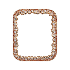 Face view Rose Gold Champagne Bubbles Apple Watch Case jewelry