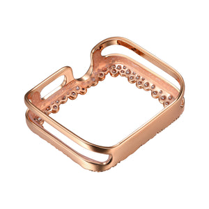 Rear View Rose Gold Champagne Bubbles Apple Watch Case jewelry