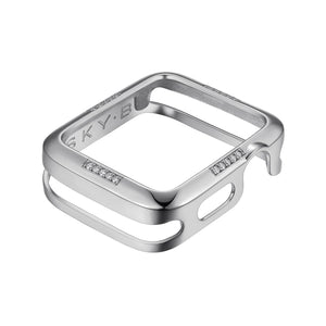 Front View Silver Dash Apple Watch Case jewelry