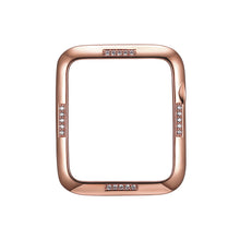 Load image into Gallery viewer, Face view Rose Gold Dash Apple Watch Case jewelry