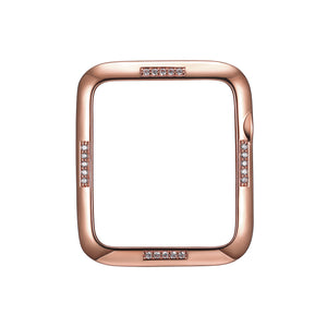 Face view Rose Gold Dash Apple Watch Case jewelry
